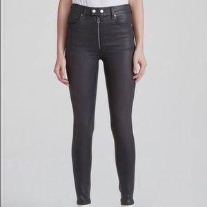 Rag & Bone Baxter Jeans Coated Ashes Skinny Pants
